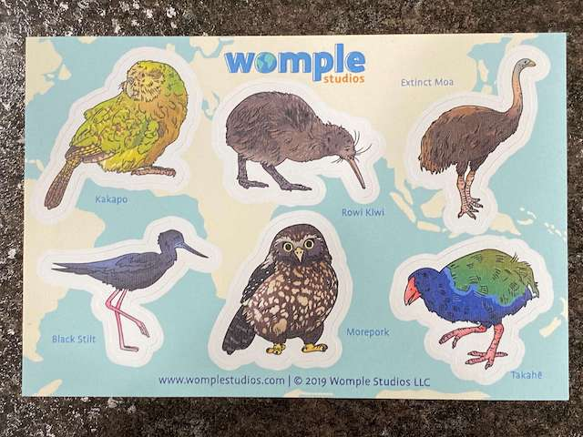 stickers - New Zealand with Womple Studios