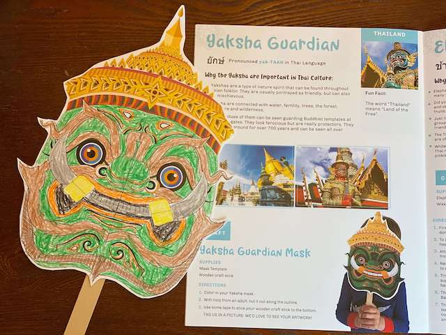 Yaksha Guardian Mask - Thailand with Little Global Citizens