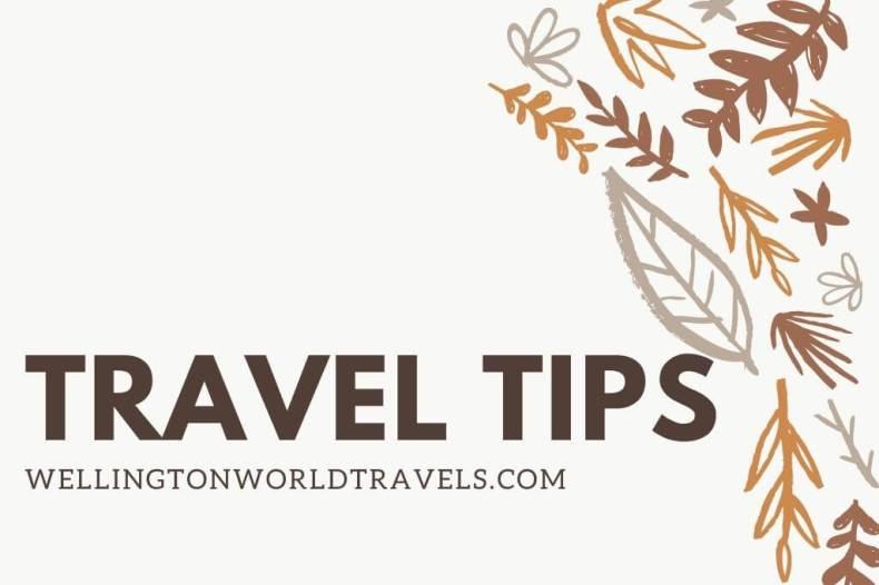 Travel Tips - Wellington World Travels