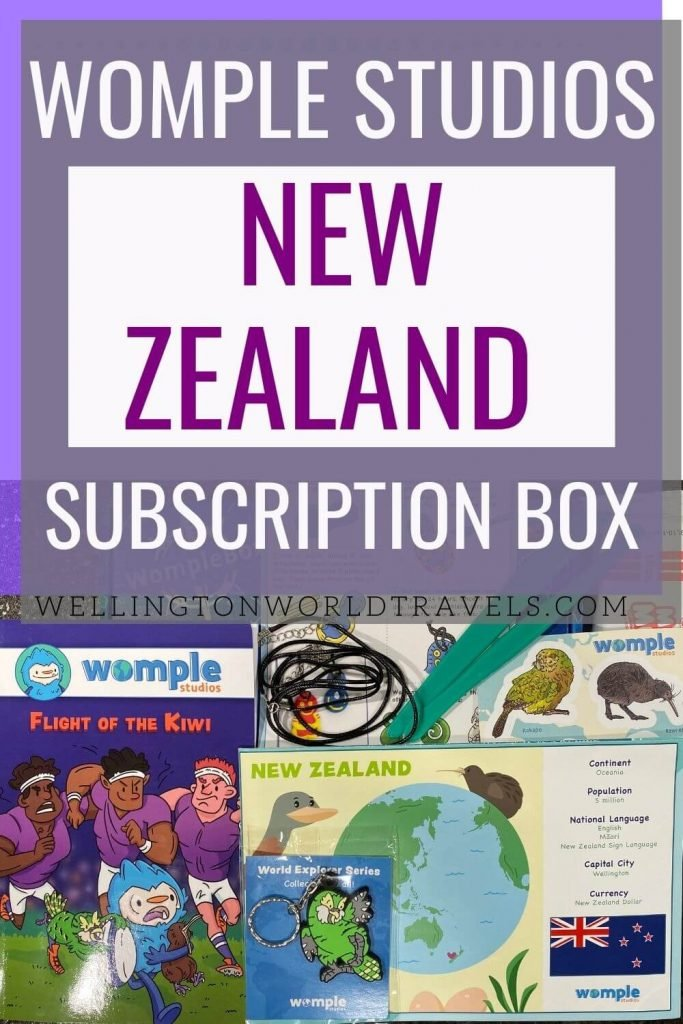 Learn about New Zealand with Womple Studios Subscription Box - Wellington World Travels