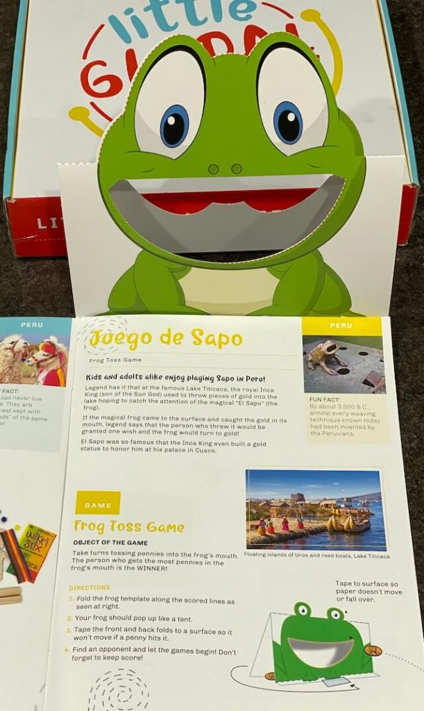 Sapo/Frog TossGame - Peru with Little Global Citizens