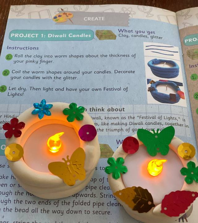 Diwali Candles - Green Kid Crafts