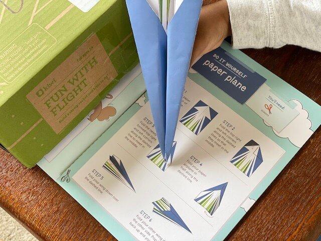 KiwiCo subscription box- paper airplane