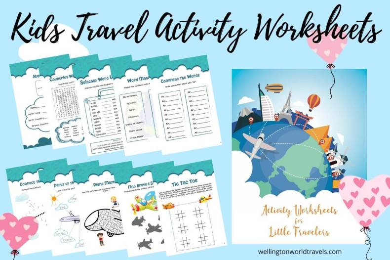 Kids Travel Activity Worksheets