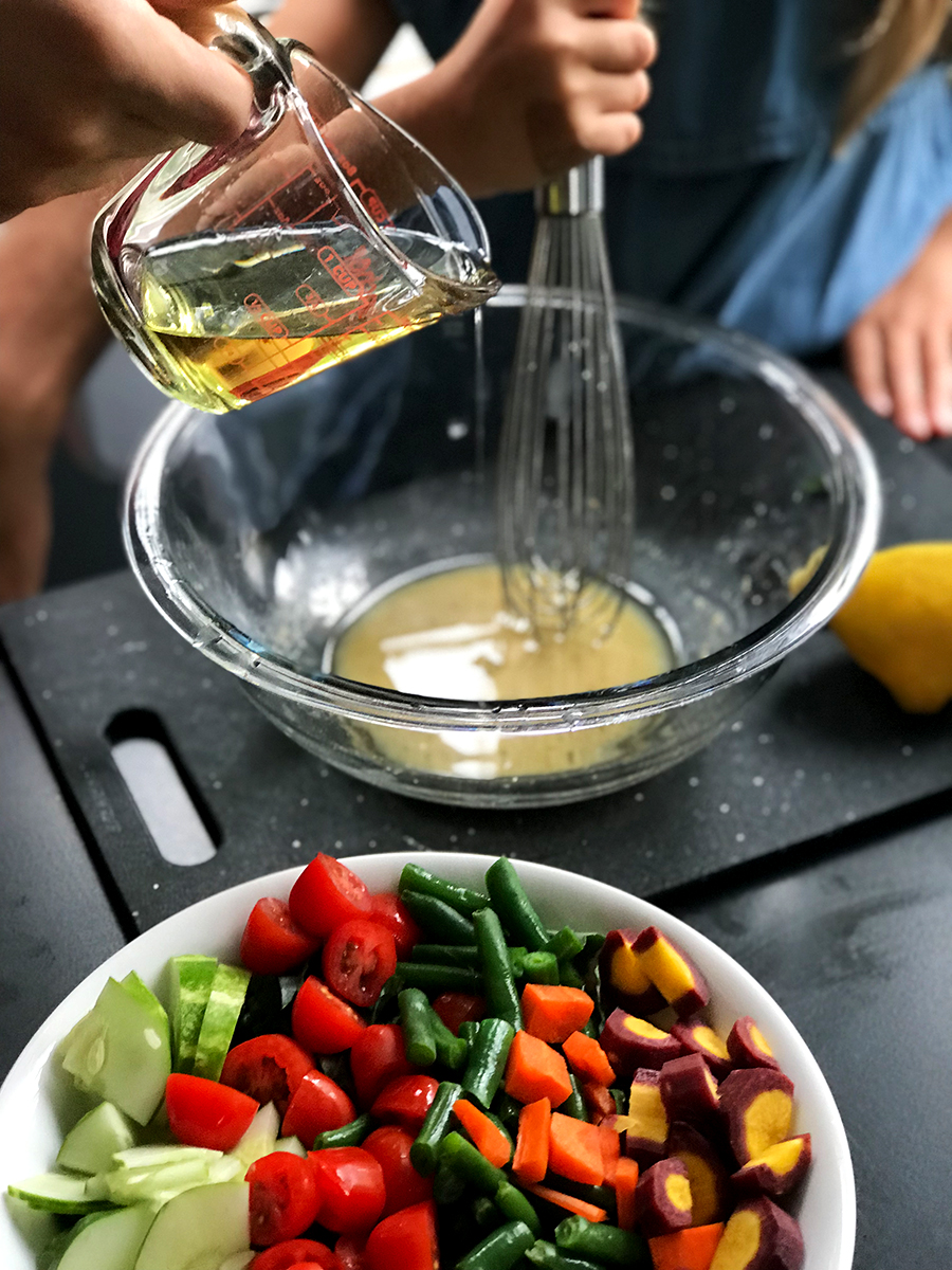 Cooking With Kids: How to Make the Best Summer Green Salad With Lemon Vinaigrette