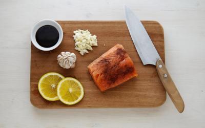 Bourbon Basted Salmon