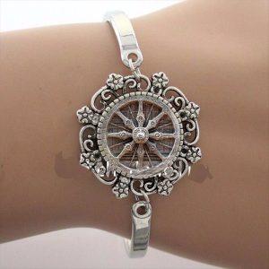 Bangle Armband Dharma Wheel