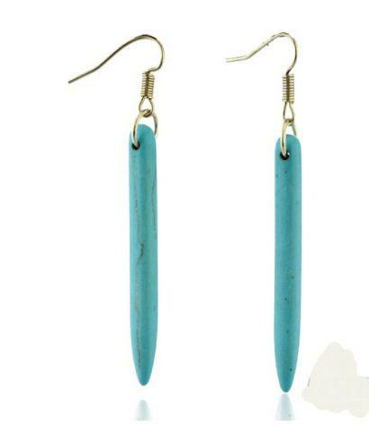 Ketting en oorbelsetje Turquoise Naald