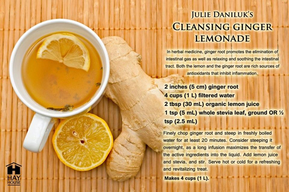cleansing ginger lemonade