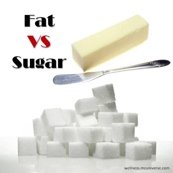 fat vs sugar