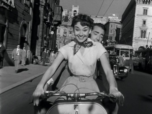 Ann didn't want to spend her entire Roman holiday focused on food, so she and Joe hopped on a Vespa to cruise around the city instead.