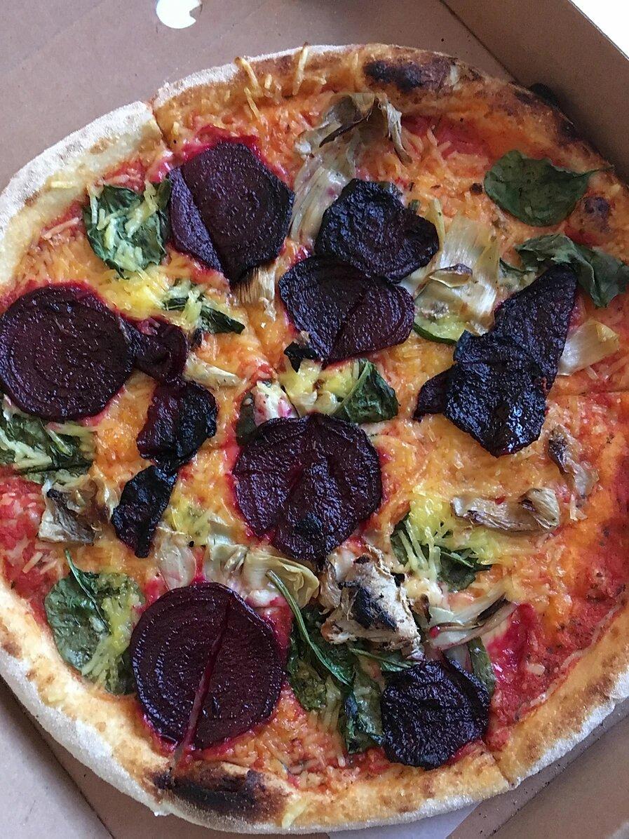 Une pizza Vegan livrée ou sur place à Brighton
