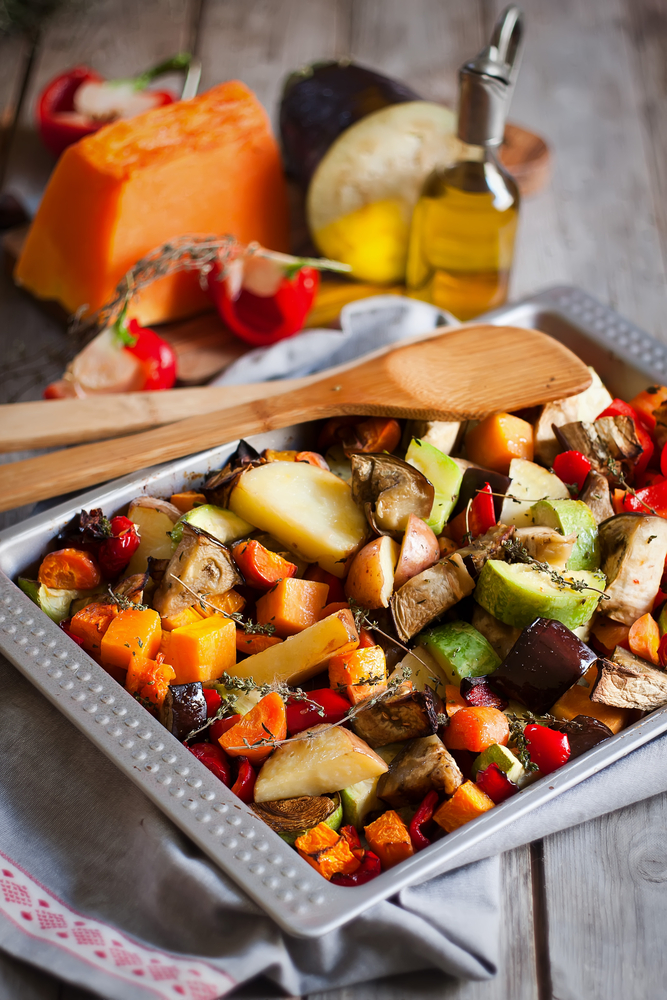 #Food #Roasted Vegetables #Stress Relief