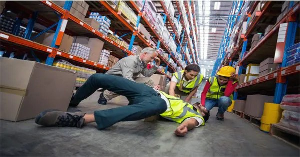 Store worker fall