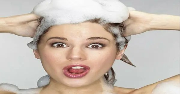 blog picture of lady shampooing and smiling
