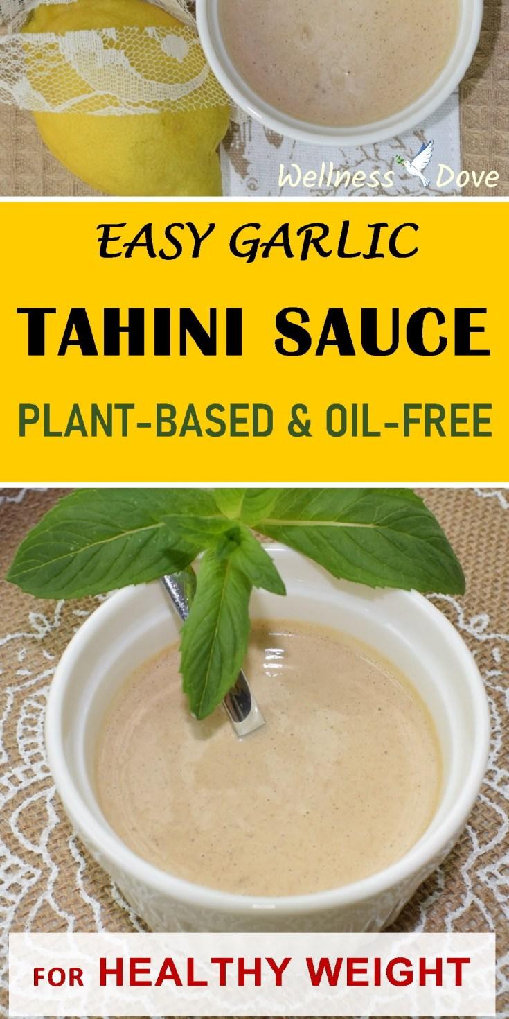 Easy Garlic Tahini Sauce