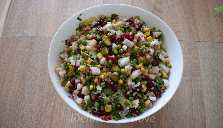 Hearty and Colourful Bean Salad | Oil-free Vegan