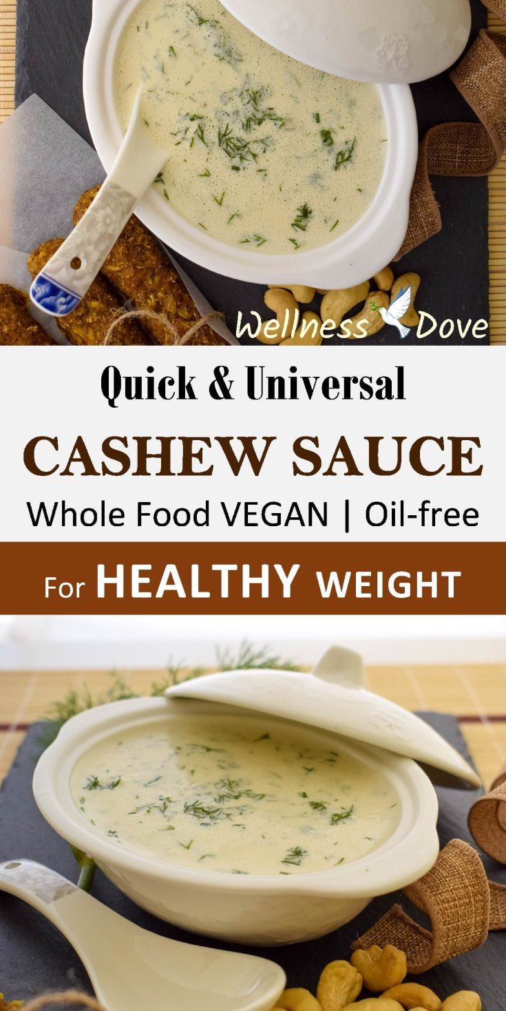 Really quick and easy nut sauce recipe! Super creamy texture!  And superbly healthy with whole natural plant foods only, no oils or sugar! | VEGAN!