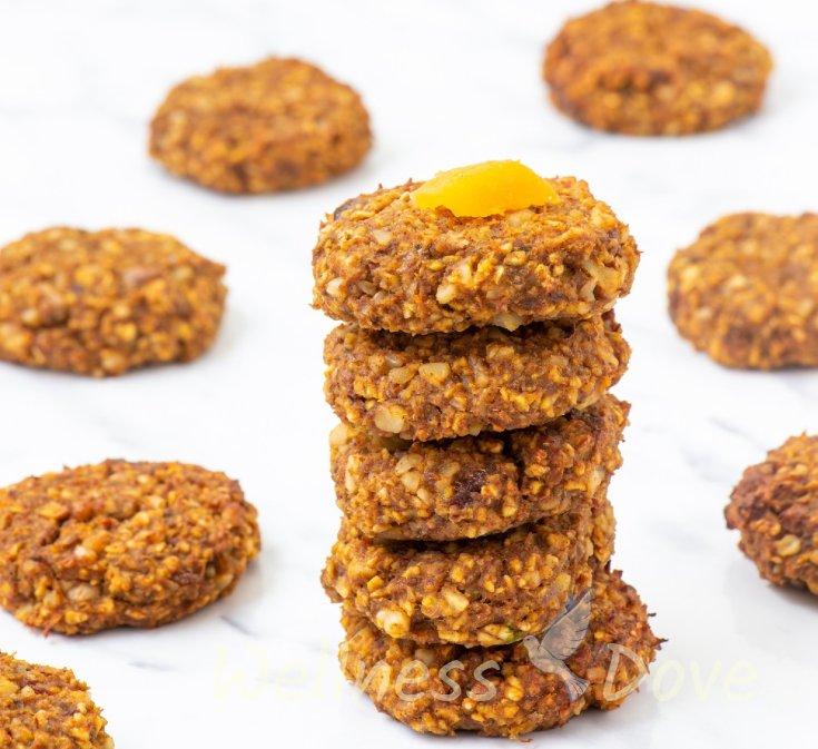Easy Oat Pumpkin Cookies   Vegan