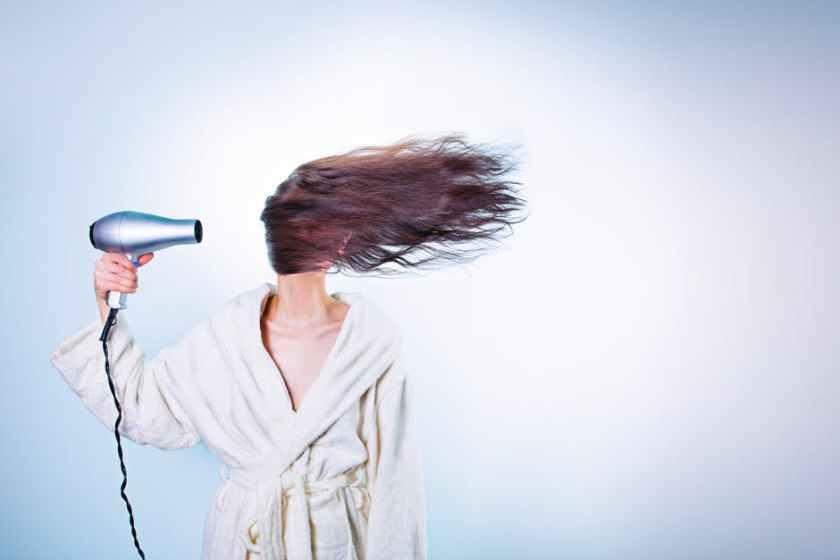 girl-hair-drying-hair