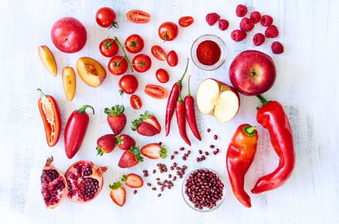 red fruits veg