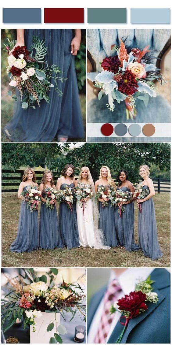 blue wedding pallette