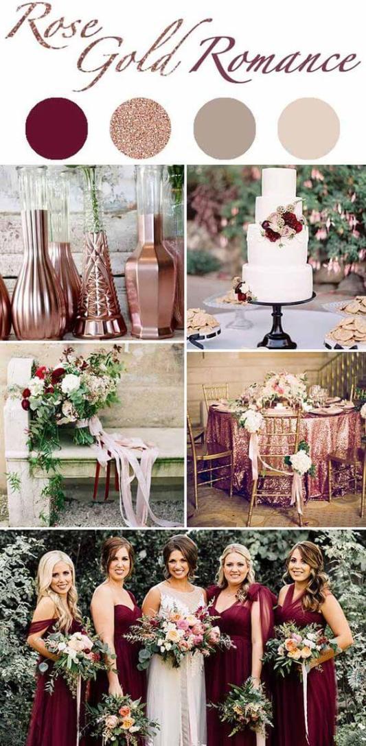 rose gold wedding scheme
