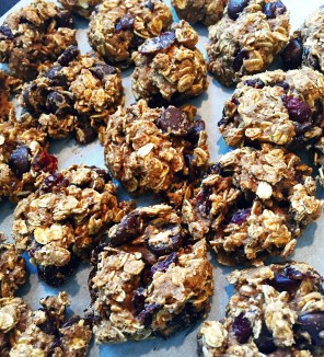 Pumpkin-cran-oat cookies!