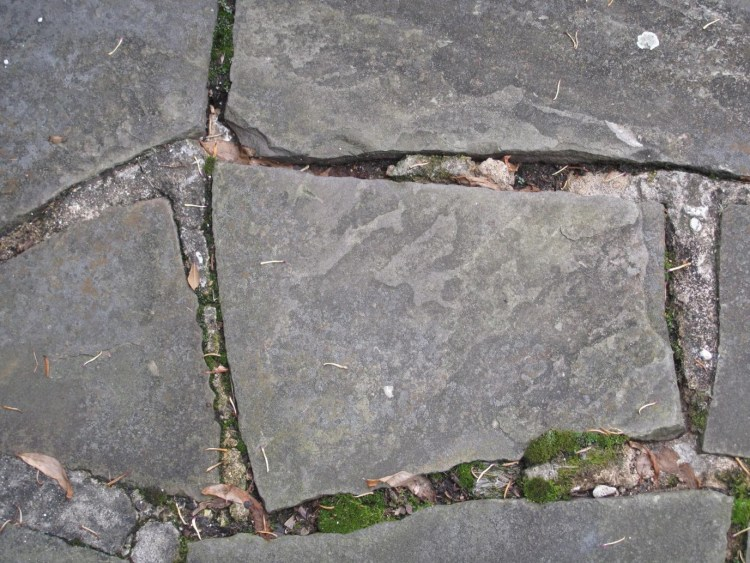 Poorly layed flagstone