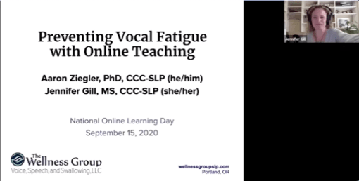 Voice therapy for teachers, speakers, singers. To prevent voice fatigue and injury.