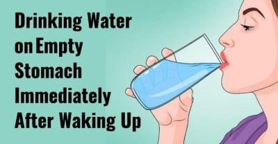 Drinking Water On Empty Stomach After Waking Up