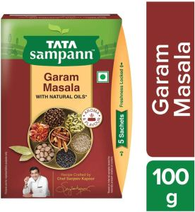Made from specially chosen whole spices of the best origins, Tata Sampann Garam Masala is a creation of master chef Sanjeev Kapoor.