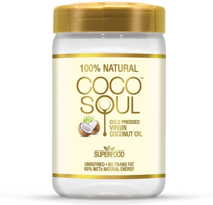 Coco Soul Cold Pressed  Natural Virgin Coconut Oil Jar