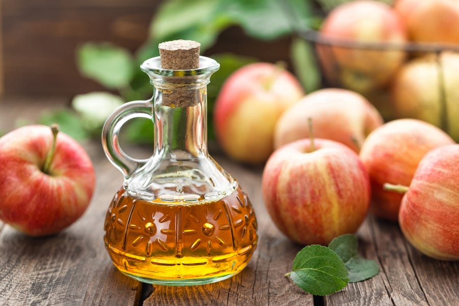 Apple cider vinegar has probiotic qualities.