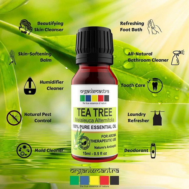 Organix Mantra Tea Tree Essential Oils for Skin, Hair, Face, Acne Care, 100% Pure, Natural and Undiluted Therapeutic Grade Essential Oil