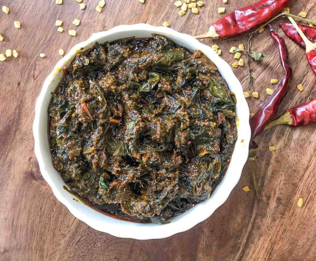 Andhra Gongura Pachadi or this Andhra style chutney made of sorrel leaves an authentic delicacy