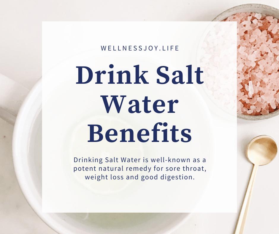 Drinking Salt Water Benefits