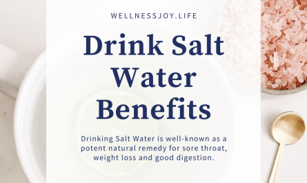 Drinking Salt Water Benefits