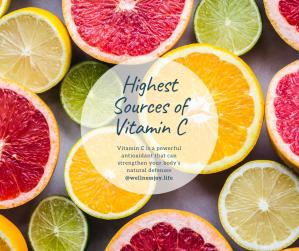 Top Ten Highest Sources of Vitamin C
