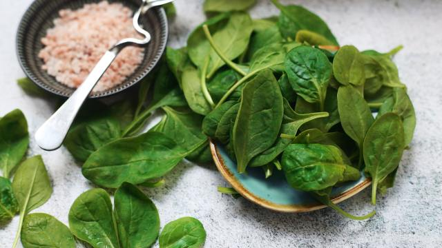 Dark, leafy greens, mustard spinach is also high in vitamin A, potassium, calcium, manganese, fiber and folate.