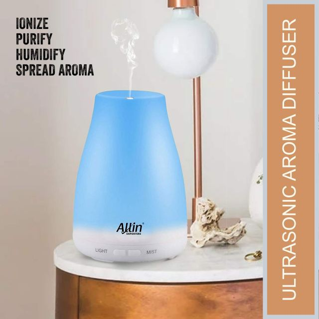 Purify, Ionize, Humidify Spread Aroma Ultrasonic Humidifier Cool Mist for Clean Healthy Home.