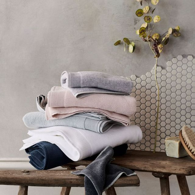 Wash towels more frequently for clean healthy living.