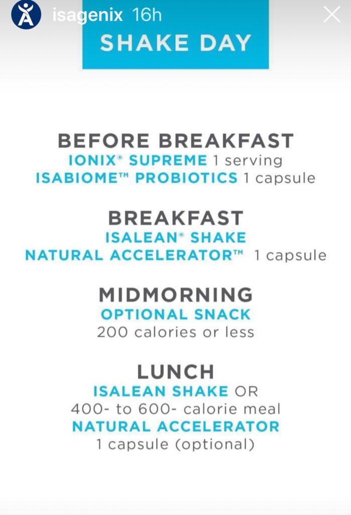 Isagenix Shake Calories : isagenix, shake, calories, Isagenix, Shake, Schedule, Daily, Routine, Wellness, Junkie