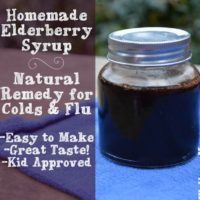Homemade Elderberry Syrup- Natural Remedy for Colds and Flu
