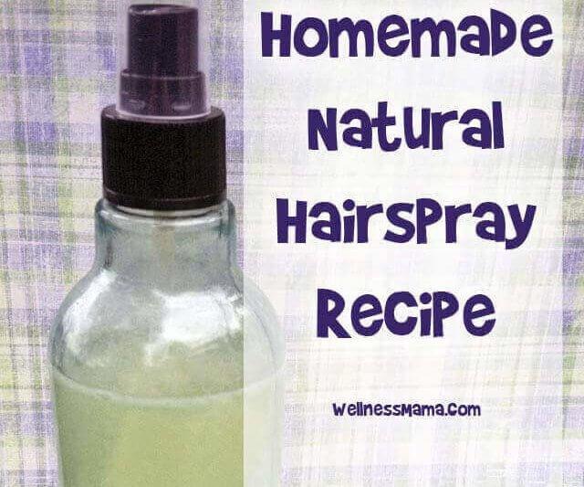 Homemade Natural Hairspray Recipe Wellness Mama
