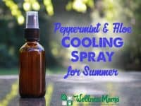 Peppermint and Aloe Cooling Spray for Summer