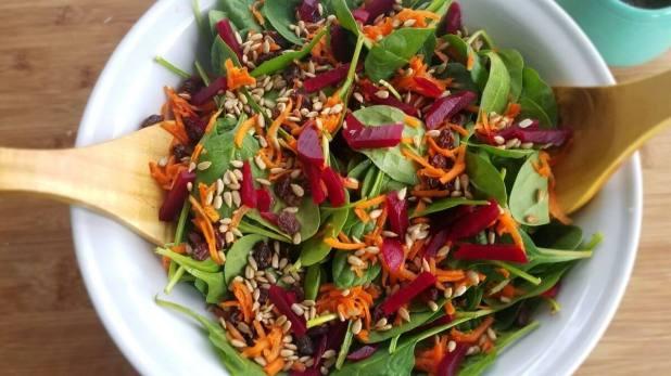 asian color burst salad