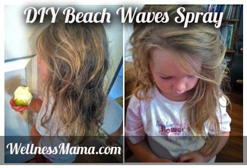 diy beach waves spray recipe DIY Beach Waves Spray