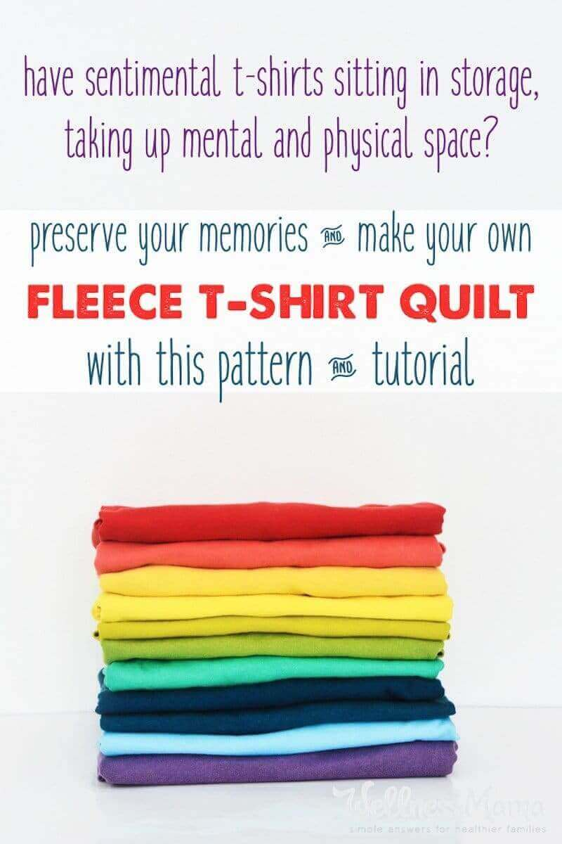 T Shirt Quilt Fleece Backing