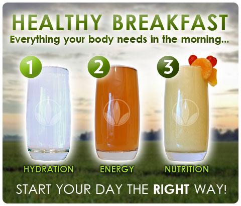 Идеален појадок. Вистински почеток на денот.